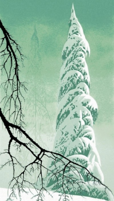 eyvind_earle_snow_tree
