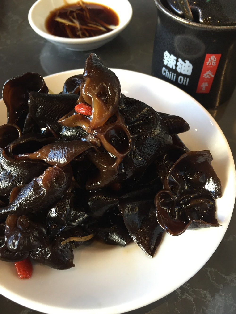 Wood Ear Mushrooms in Vinegar Dressing