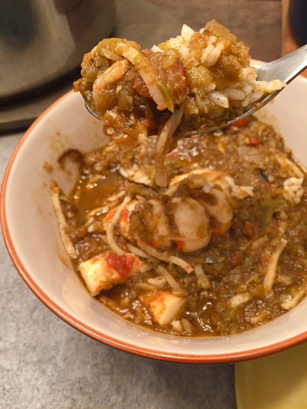 Vegetarian (and vegan) seafood gumbo