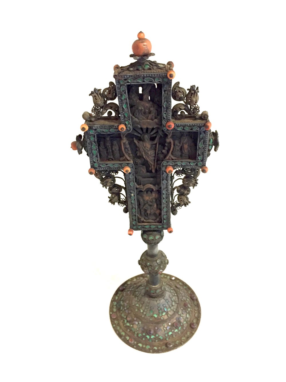 This 18th century Greek altar cross is not listed for sale in the shop, but we are accepting inquiries from interested parties. We can put your name on an email list to contact when this item goes to auction. Email: provincejournal@gmail.com
