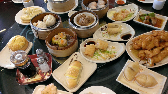 A typical dim sum table - via Mack Male/Flickr