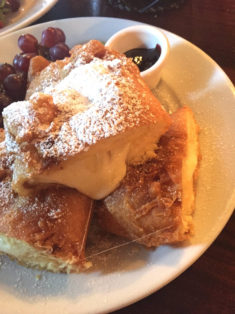 Do your stomach a favor and avoid the 3-Cheese Monte Cristo sandwich. You don't want something this heavy in your gut when you're going on rides and walking for miles. Cafe Orleans, if you read this, please please please at the very least serve this sandwich with a side salad or some steamed veggies.