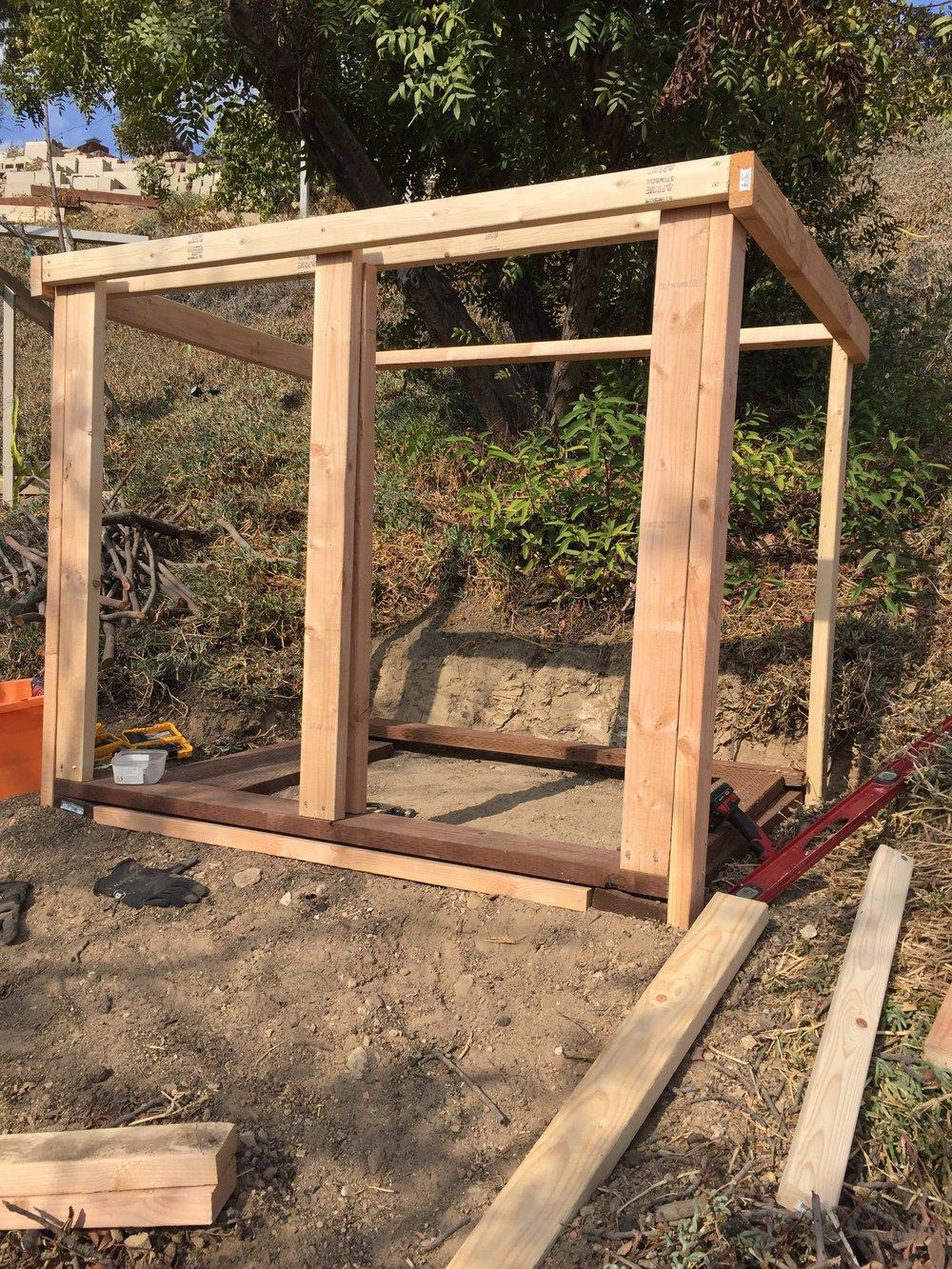 Dual Compartment Compost Bin - 5' x 4' x 4'