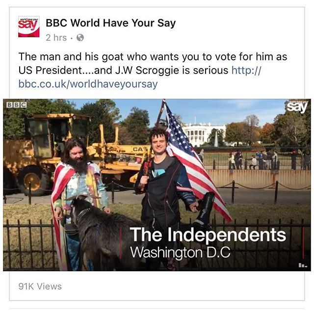 Thank you BBC for reporting American third-party candidates! Something mainstream America news epically failed to do☝️https://www.facebook.com/worldhaveyoursay/#bbclove #truth #movement #support #history #usa #scroggie16 #everybodyispresident #news #presss #election2016 #2016election #realnews