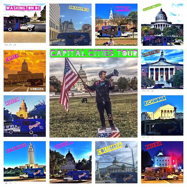 Thanks for the epic support on this 12 🌟 Capital cities run 🚍💃🏽🇺🇸 I love you America🇺🇸 #scroggie16 #writeinpresident #independent #usa #everybodyispresident