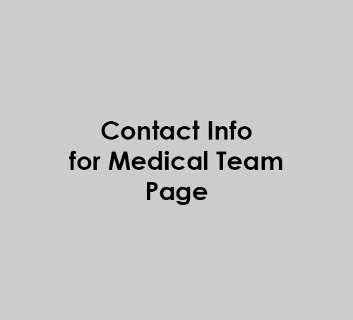 Contact info for your medical team