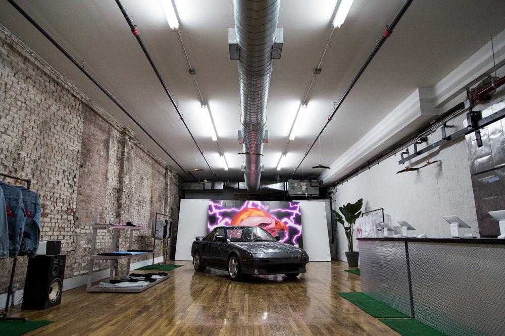 Travis Scott's Toyota Hood Pop-Up Shop at Grand Street Pop-Up Space. Photo: Hypebeast
