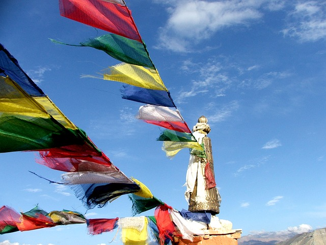 If we were prayer flags would we be humming out our mantras or getting tattered and worn by all the movement of this spring wind?