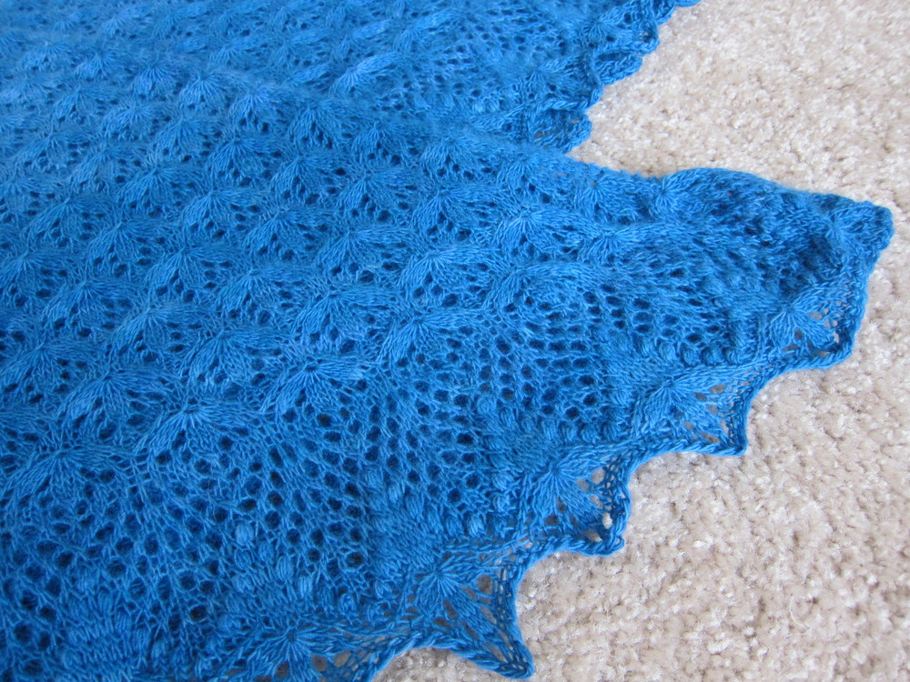 Finished Echo Flower Shawl
