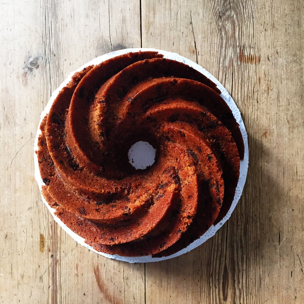 Rustic Fig, Pecan and Orange Bundt Cake
