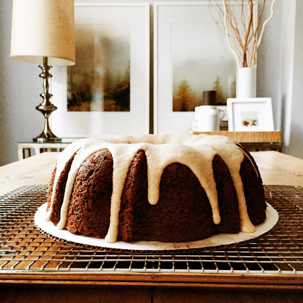 Roasted Pear Bundt Cake with Brown Butter Glaze