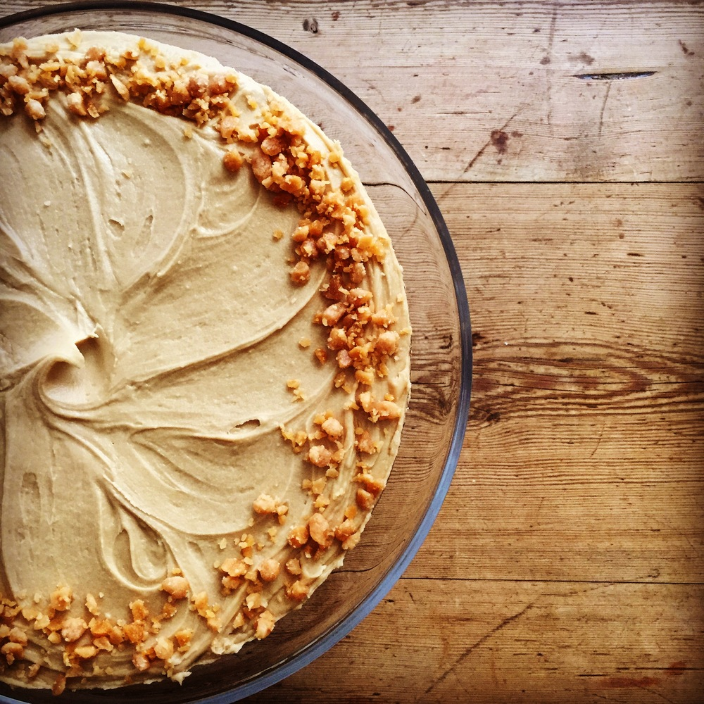 Banana Caramel Cake with Brown Sugar Frosting