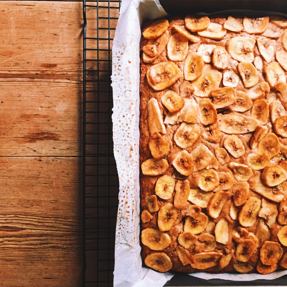 White Chocolate Banana Blondie