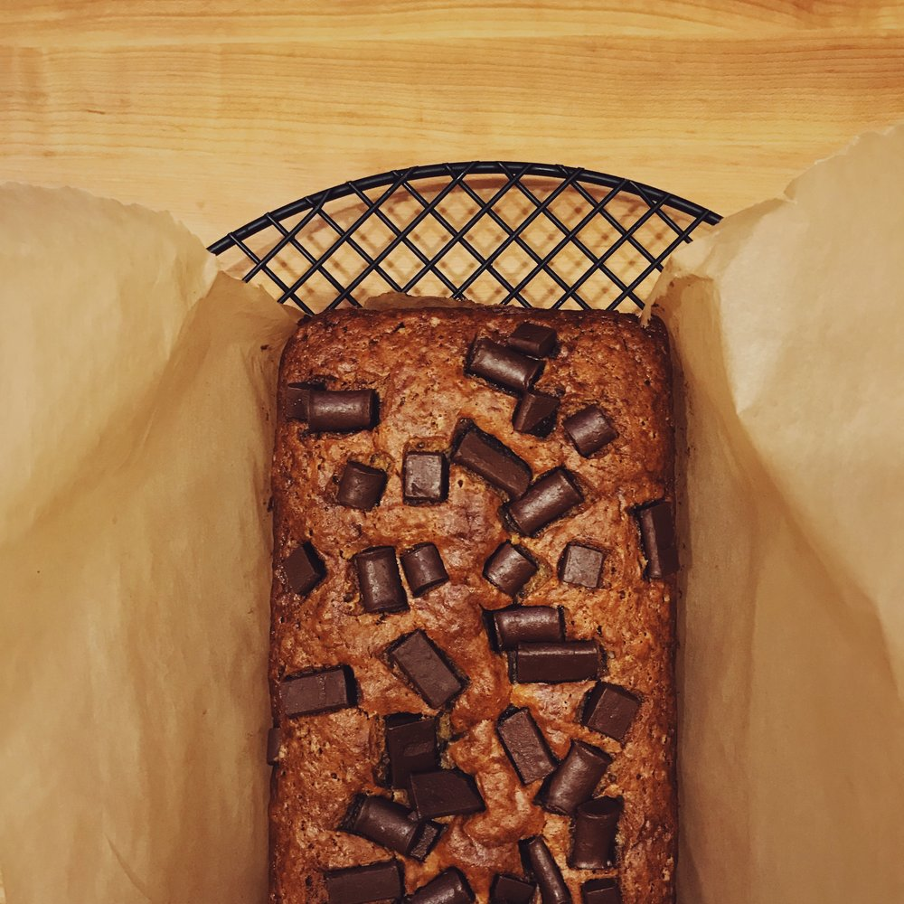 Vegan Banana Chocolate Bread