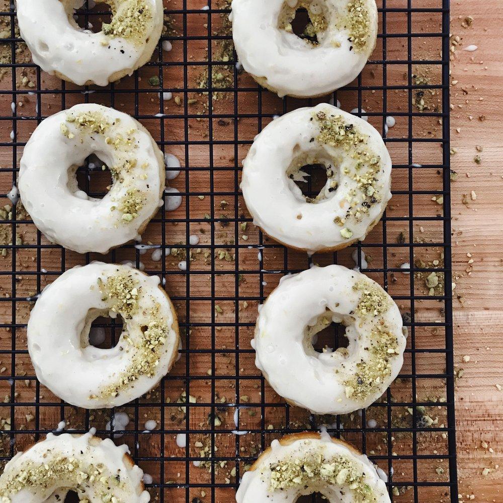 Lemon Pistachio Donuts