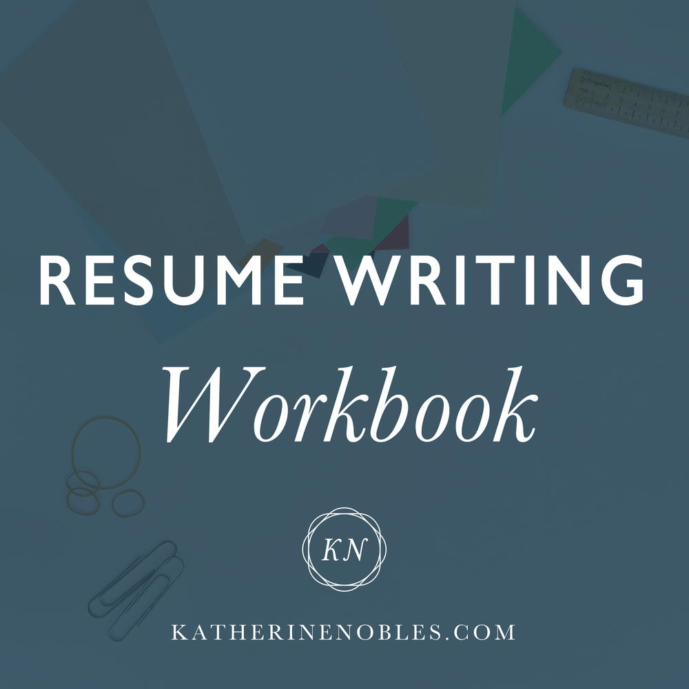 Resume Writing Workbook