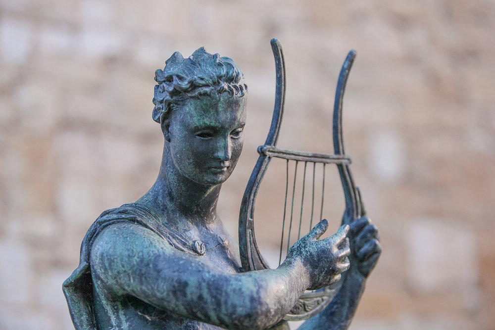 Apollo with lyre, Anglesey Abbey  photographed by Tony Smith