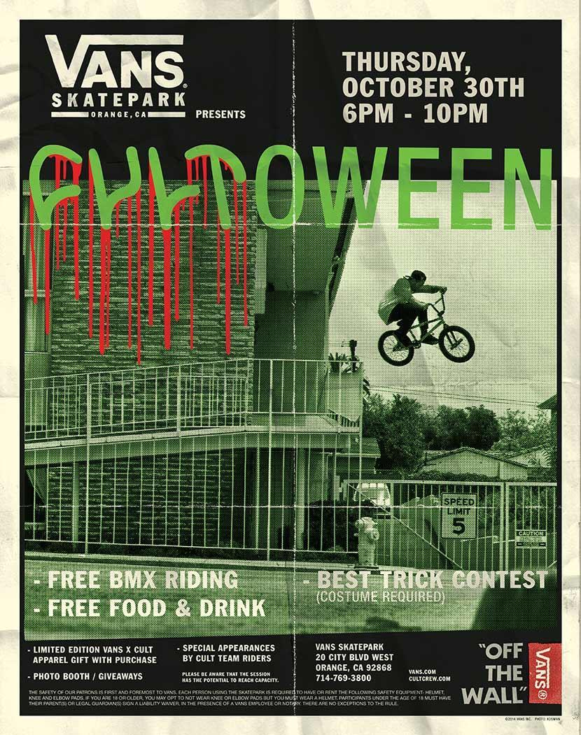 Come to Vans park at the Block this Thursday night with your bike. We will be there, don't miss out! Peep the new goods you can grab there.