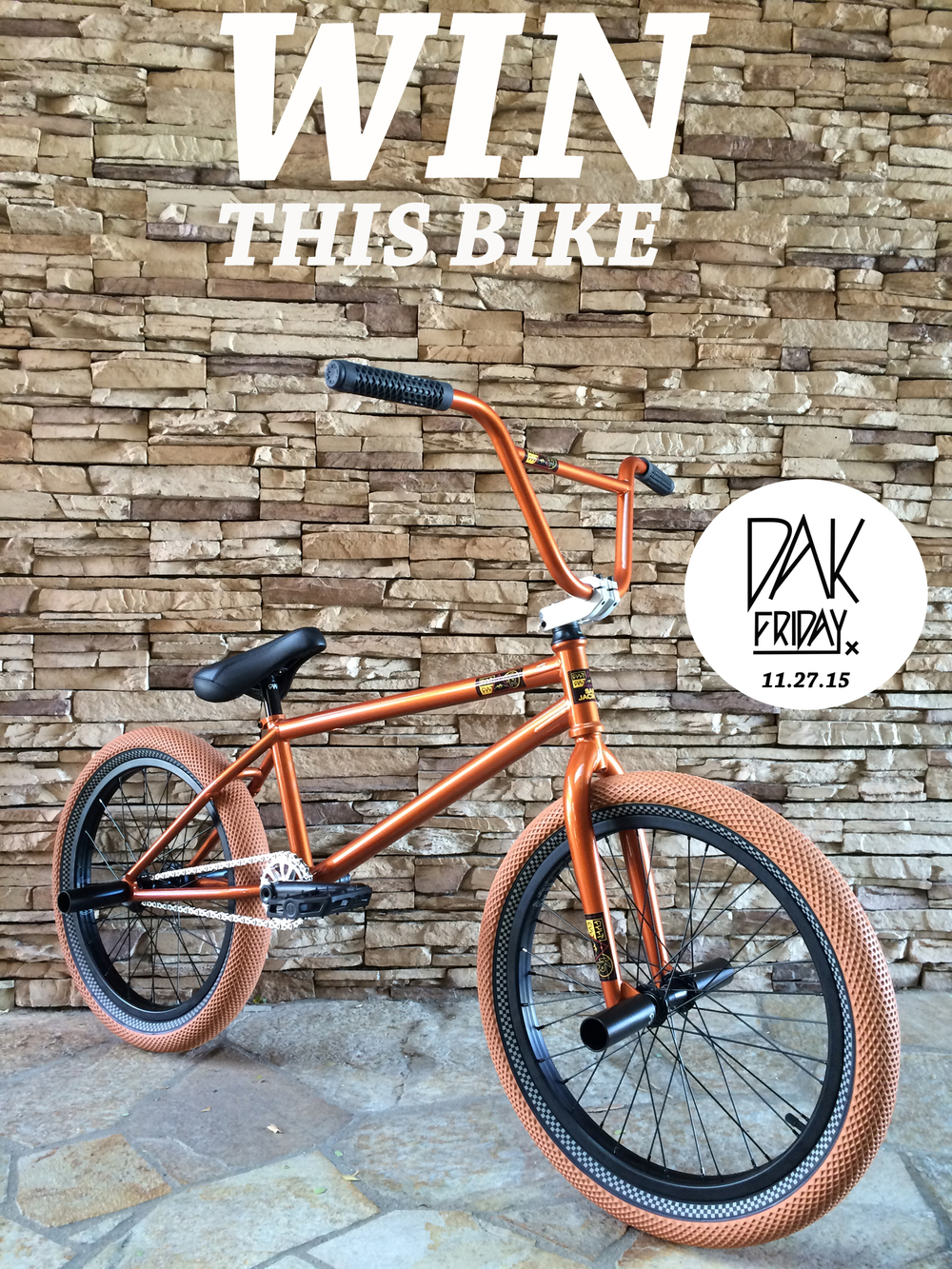 Get a chance to WIN this custom built Cult Dak on Dak Friday, 11/27/15, by purchasing a raffle ticket for $1 or a single raffle ticket comes with a purchase of a Dak Friday tee shirt. You must be present at the time time of the drawing to Win.