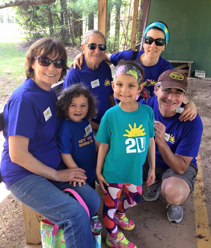 Member of the Kucelin Family spending precious time this summer at Camp Sunshine.