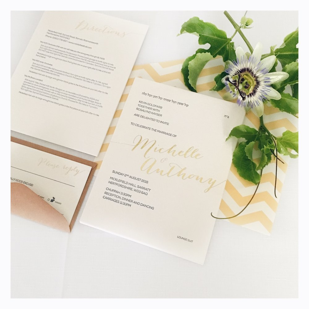 Michelle & Anthony: Wedding Invitation Suite