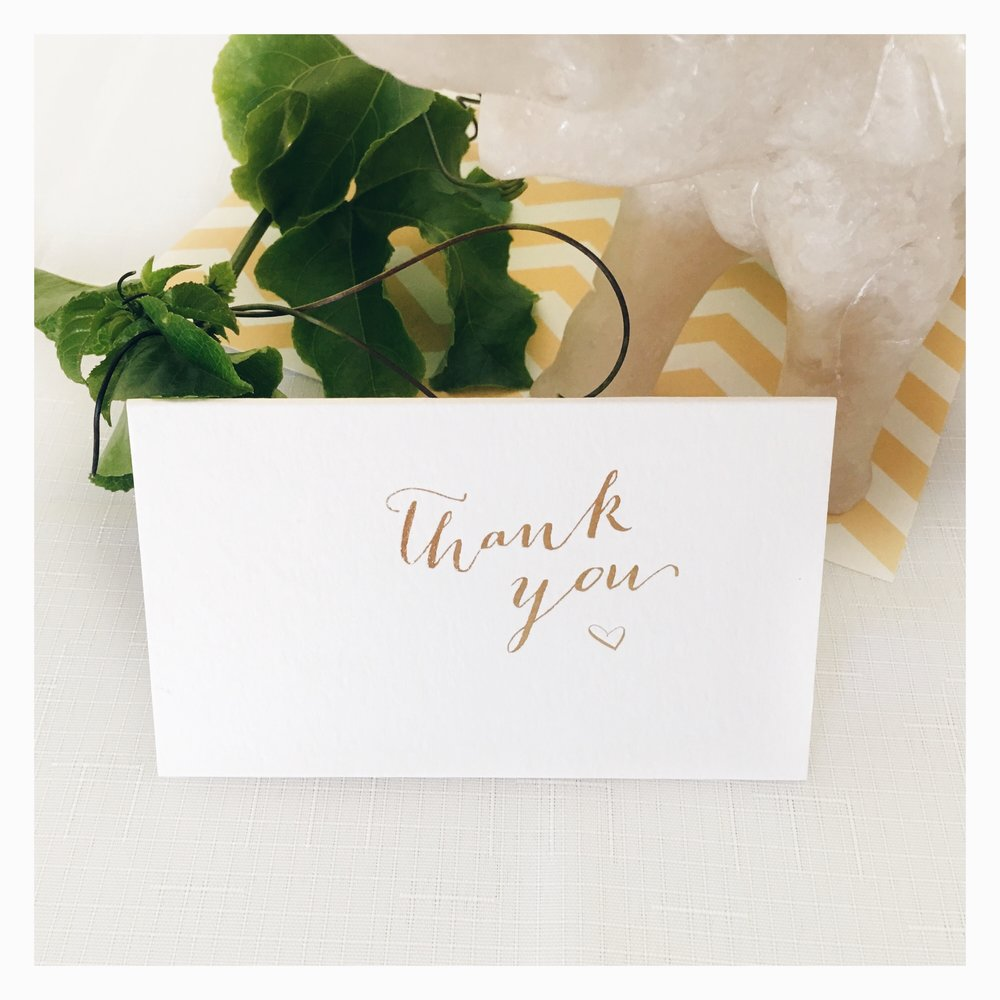 Michelle & Anthony: Thank You Card