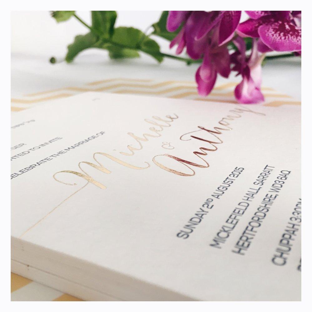 Michelle & Anthony: Wedding Invitation [Detail]