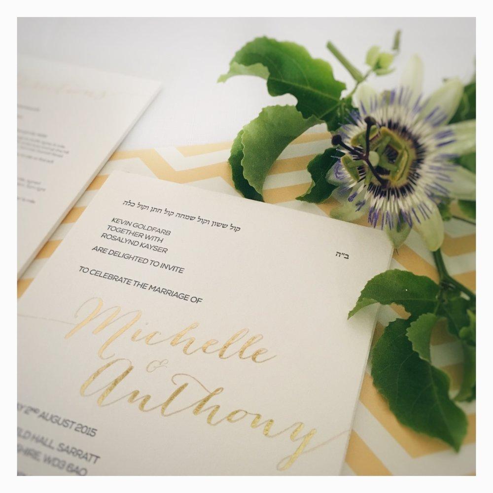 Michelle & Anthony: Wedding Invitation