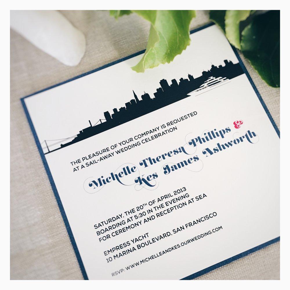 Michelle & Kes: Wedding Invitation