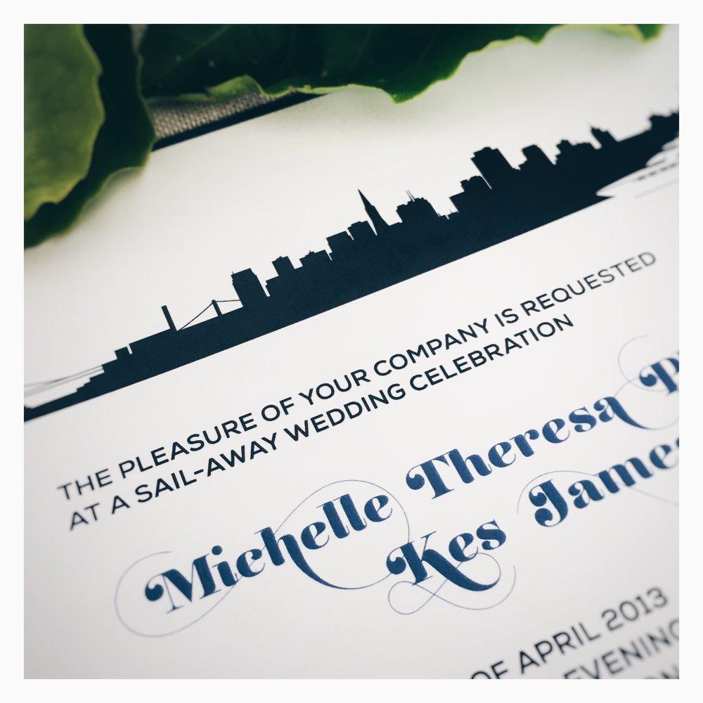 Michelle & Kes: Wedding Invitation [Detail]