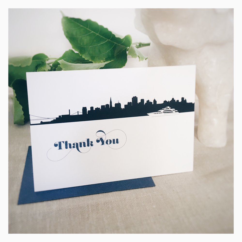 Michelle & Kes: Thank You Card
