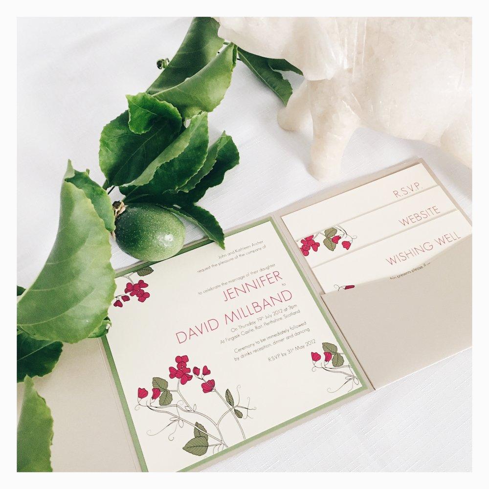 Jennifer & David: Wedding Invitation Suite [Assembled]