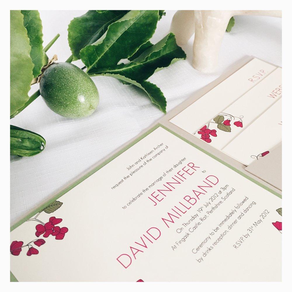 Jennifer & David: Wedding Invitation Suite [Detail]