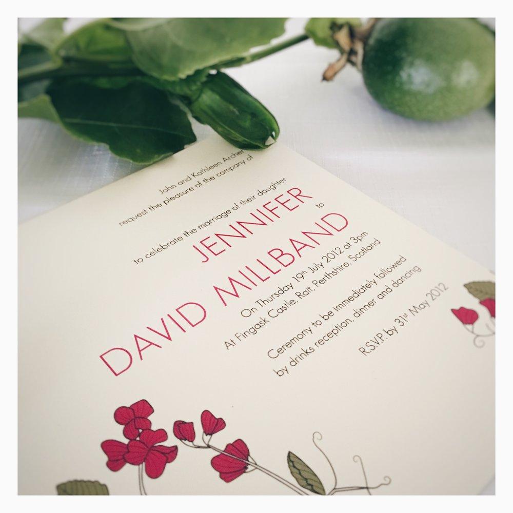 Jennifer & David: Wedding Invitation
