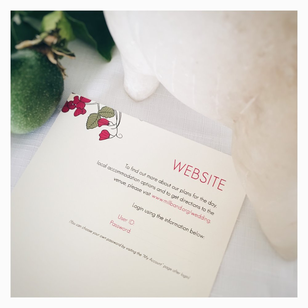 Jennifer & David: Info Card [Website]