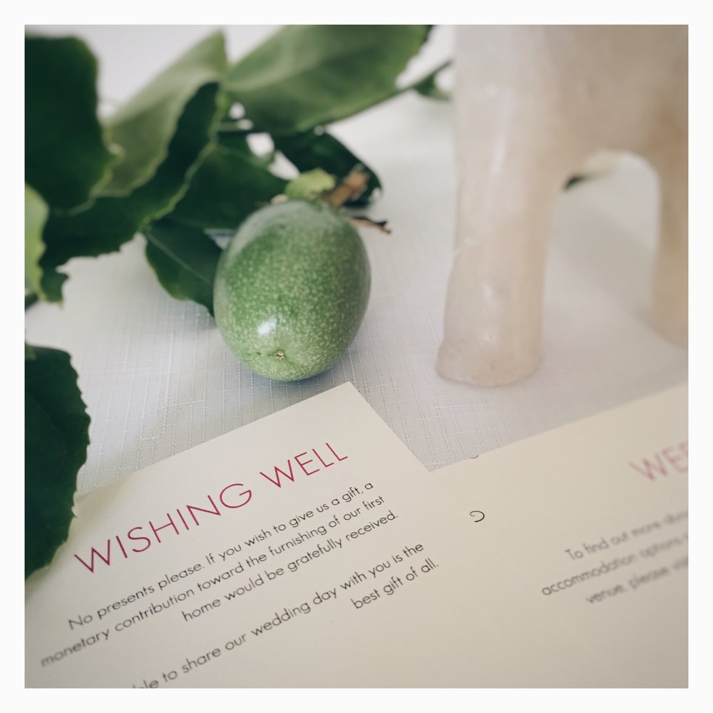 Jennifer & David: Info Card [Wishing Well]