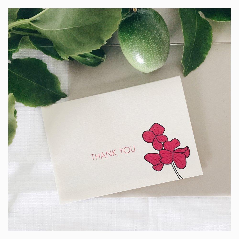 Jennifer & David: Thank Your Card
