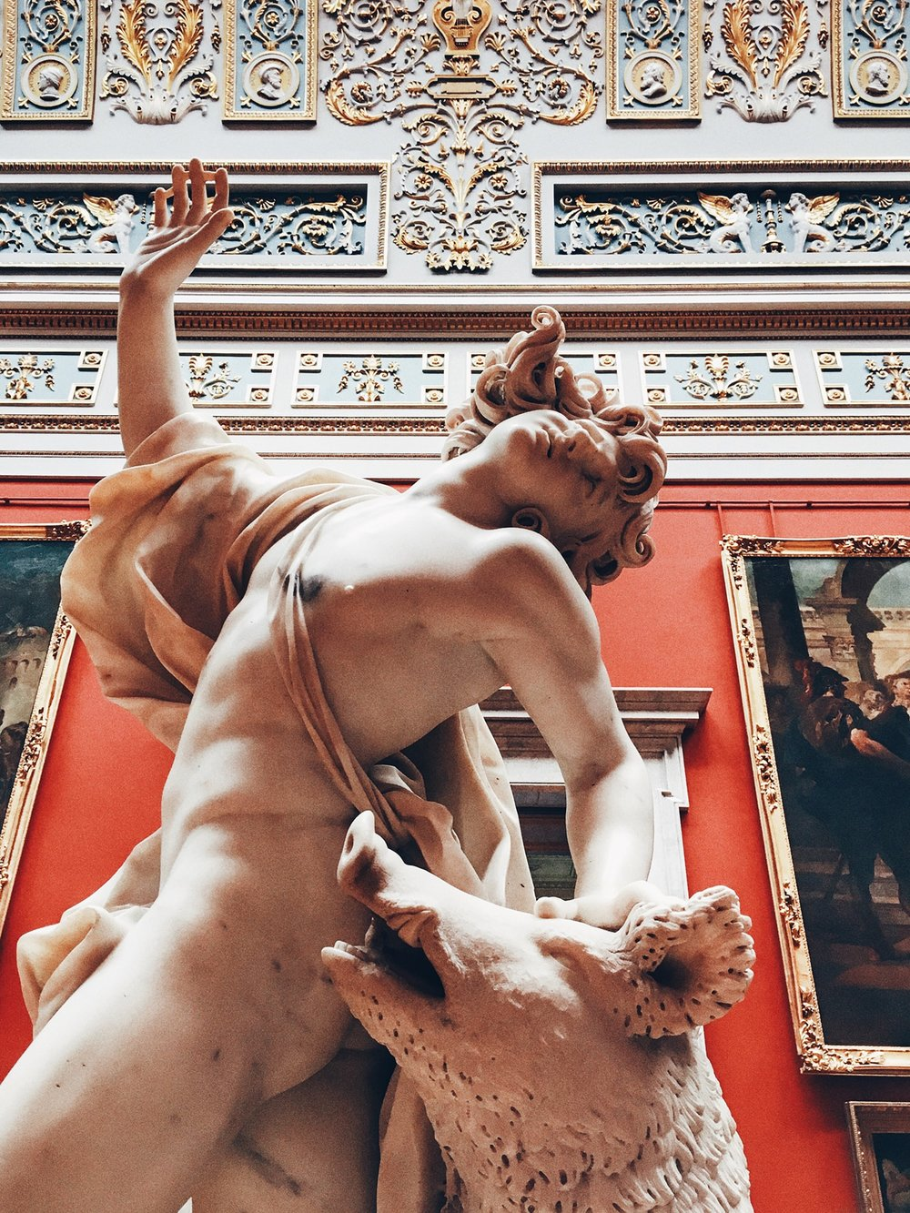 Death of Adonis sculpture by Giuseppe Mazzuola at the State Hermitage Museum (St. Petersburg, Russia)