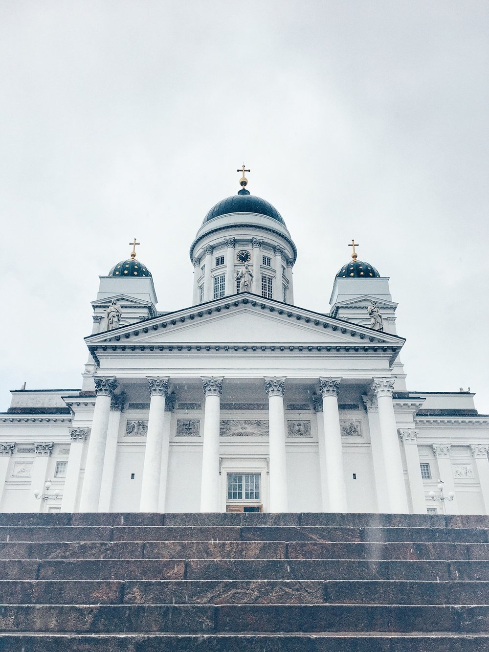 Helsinki Cathedral was originally built as a tribute for tsar Nikolas I of Russia (Helsinki, Finland)