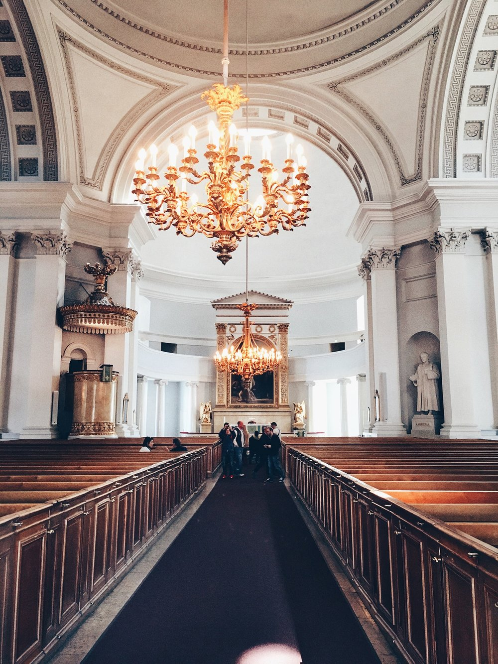 The interiors of Helsinki Cathedral (Helsinki, Finland)