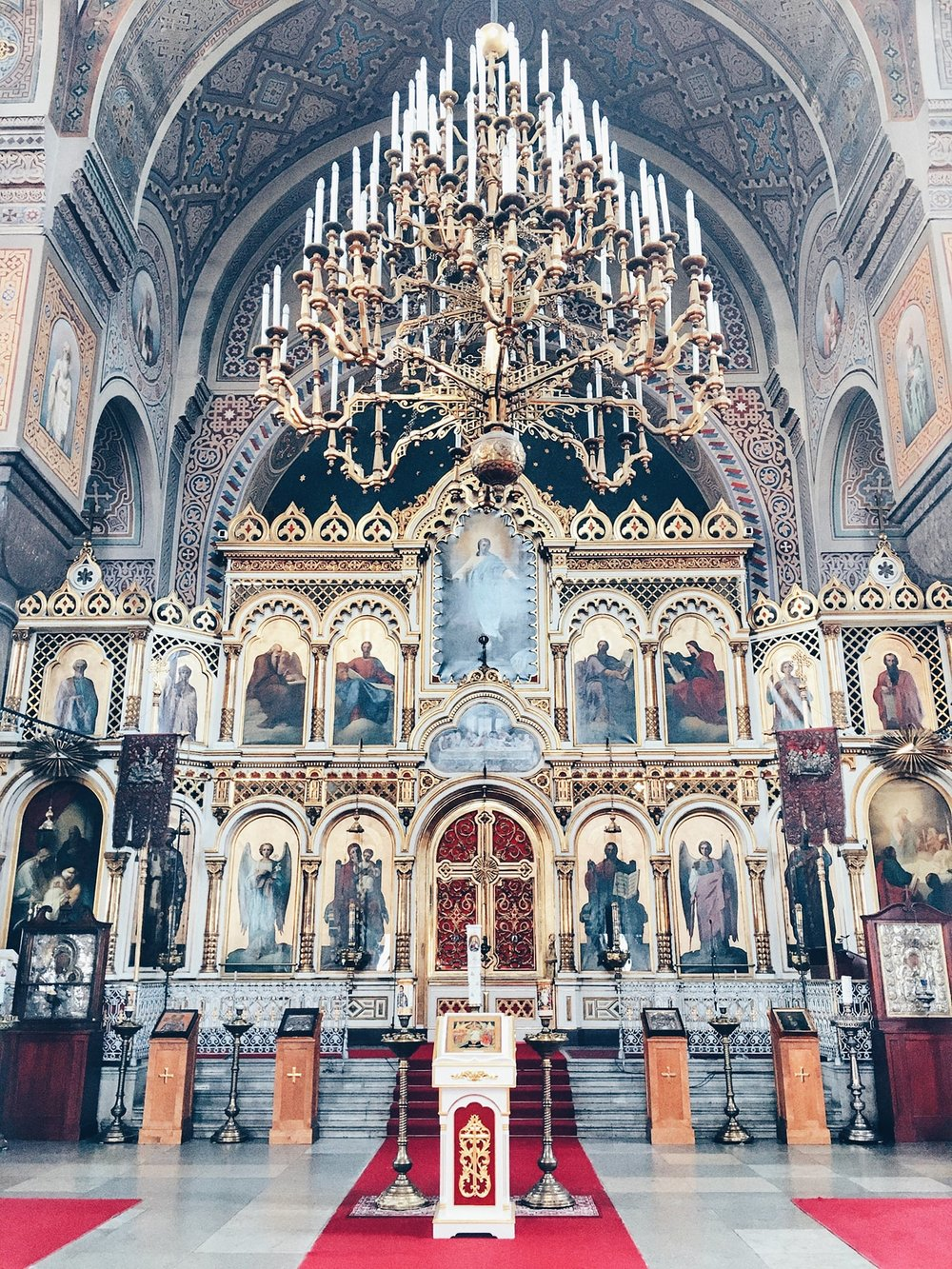 The interiors of Uspenski Cathedral (Helsinki, Finland)