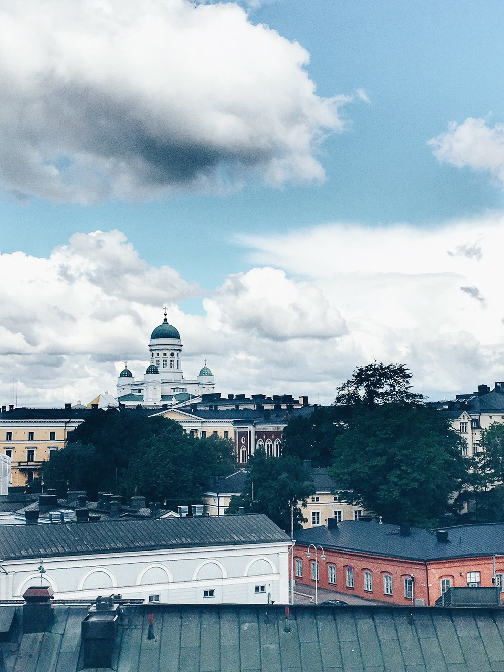 Helsinki Cathedral as seen from Uspenski Cathedral (Helsinki, Finland)