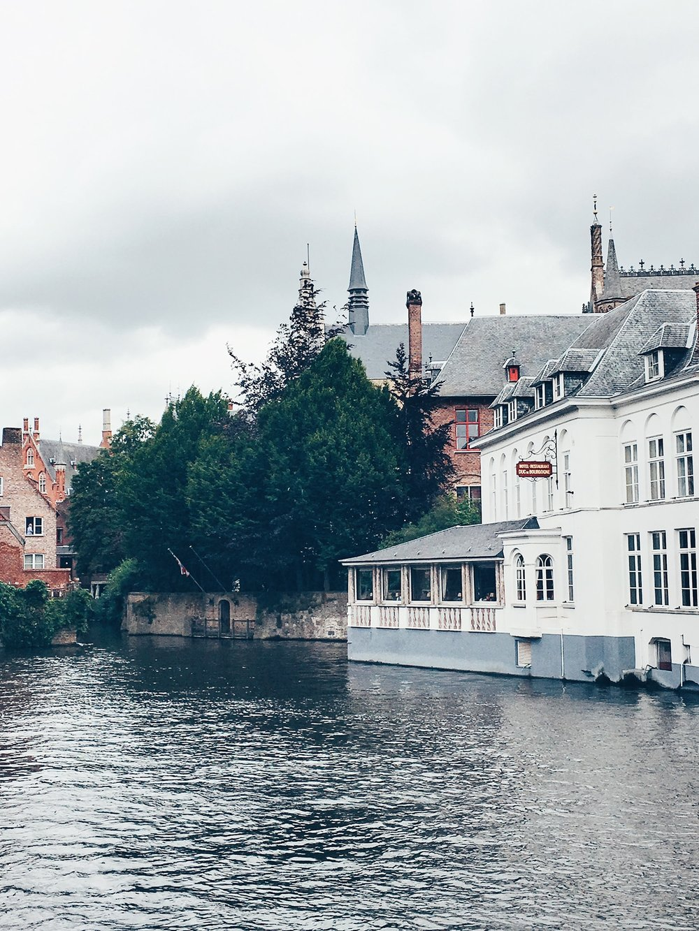 The Groeninge Museum (on the right) is said to house Bruges' best art collection (Bruges, Belgium)