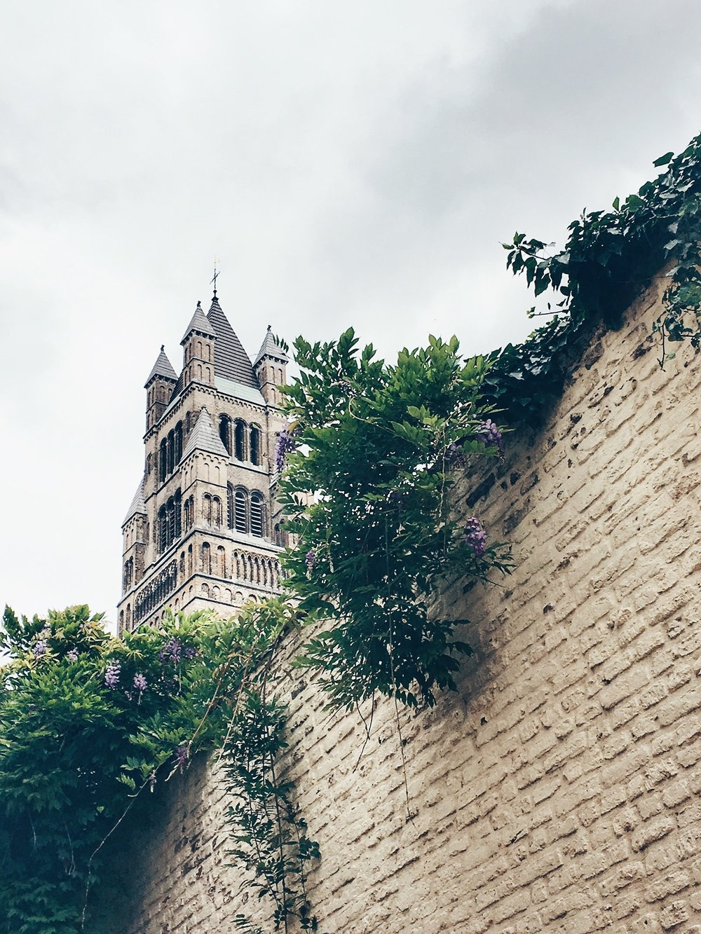 The 99-metre high west tower of Saint Salvador Cathedral (Bruges, Belgium)