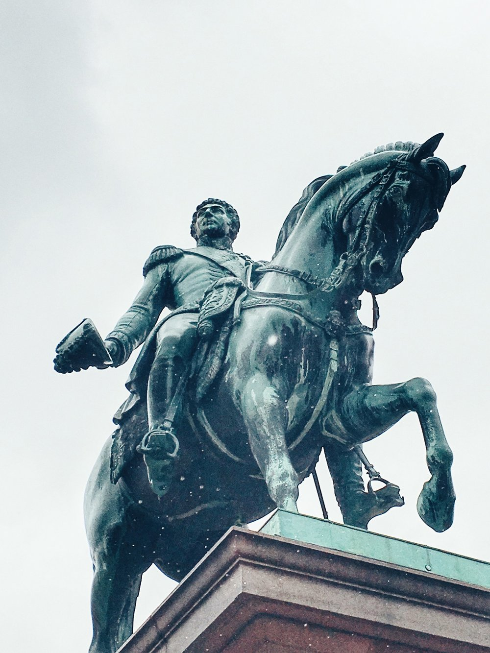 Statue of King Carl XIV Johan in front of the Royal Palace (Oslo, Norway)