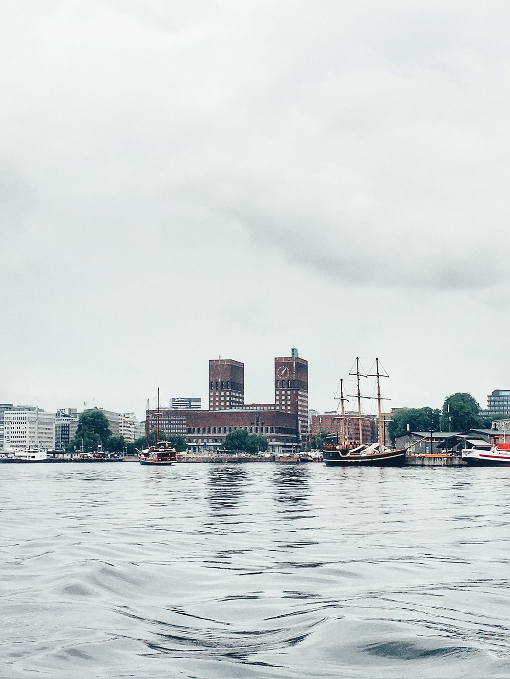 Oslo Harbour with City Hall (Oslo, Norway)