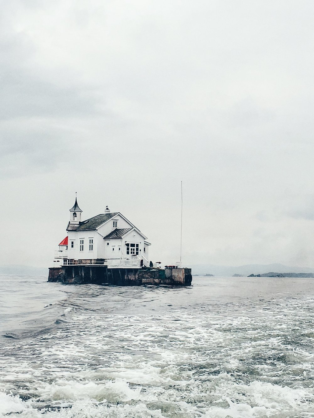 Old Lighthouse in the Oslo Fjords