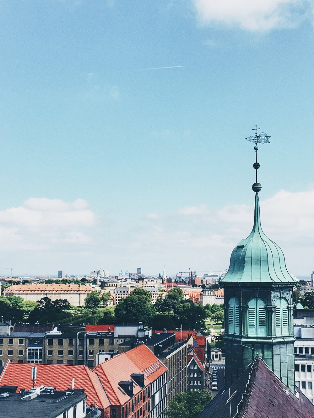 View from the top of the Round Tower (Copenhagen, Denmark)
