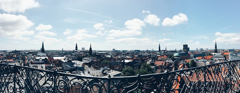 Panoramic view from the top of the Round Tower (Copenhagen, Denmark)