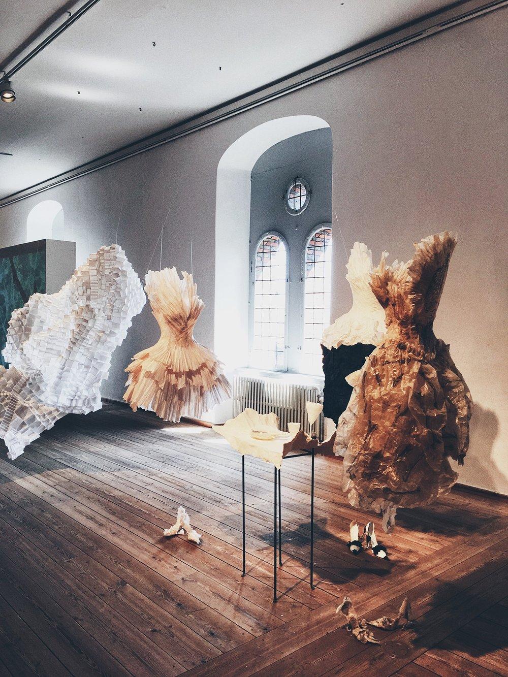 Art exhibition inside the Library Hall of the Round Tower (Copenhagen, Denmark)